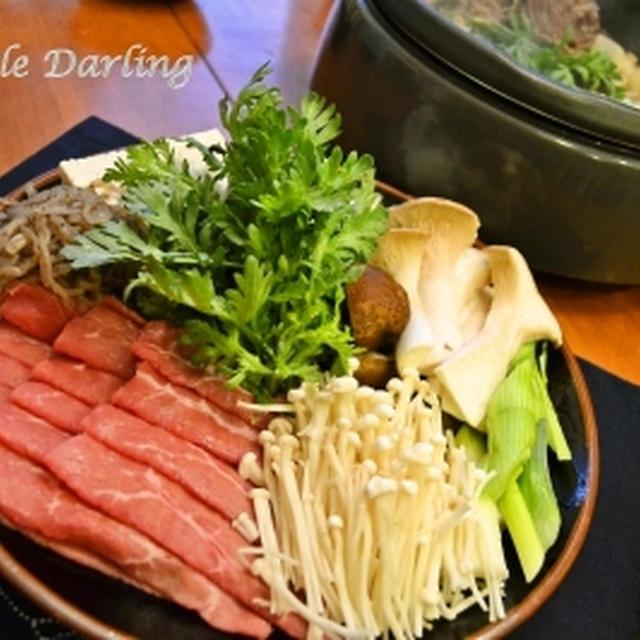 アメリカでも和食が大好き! 今夜はすき焼き