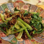 牛肉と青梗菜の出汁カレー炒め