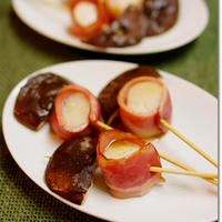 ホタテのベーコン巻きの黒ホイル焼き