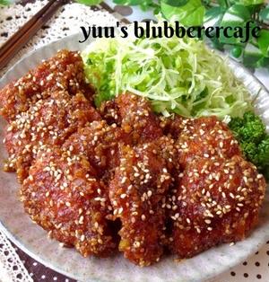超→おすすめ♡ネギ味噌ソースのチキンカツ