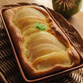 【グラタン皿でラ・フランスのホットケーキ】