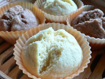 糖質オフスイーツ★大豆粉&おから&ヨーグルト蒸しパン作ってみました★糖質制限