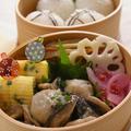 里芋と椎茸と豚肉のこってり甘辛煮