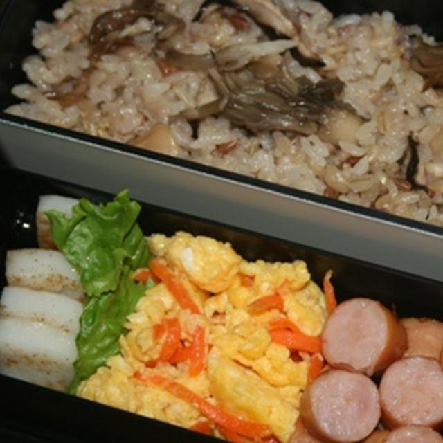 7月6日  茸の炊き込みご飯弁当