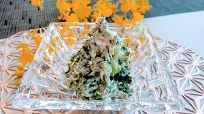 菜の花とクリームチーズの山椒和え
