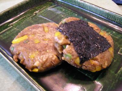 野菜たっぷり芋餅