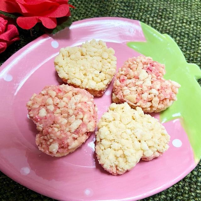 バレンタインに♡ピンクと白 2色のチョコクランチ