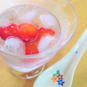 デザートに♪食後に♪さくらんぼ入り炭酸♪ by kaana57さん