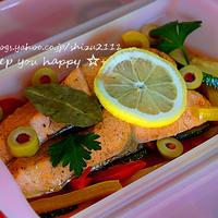 +*野菜と鮭の簡単マリネ+*