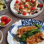 菜の花のポークソテー・オニオンソース&真鯛の炒め蒸し