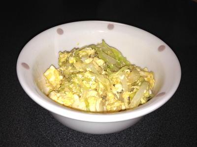 パパっと簡単野菜たっぷり炒り卵