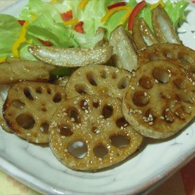 レンコンの甘辛炒め、切り方を変え、食感楽しむ