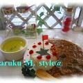 ネバネバ和風カレー&低カロリー麺(カツオ風味♪) by 桃咲マルクさん