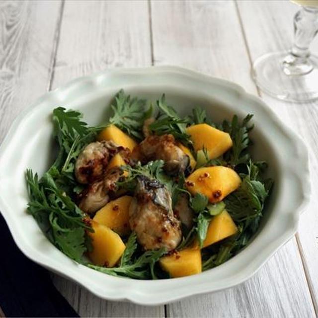 牡蠣と柿のごちそうサラダ@イオン・ザ・テーブル69  by 管理栄養士/フードコーディネーター りさ