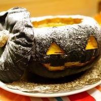 ジャック・オ・ランタンのまるごとかぼちゃプリン☆ハロウィンのお菓子