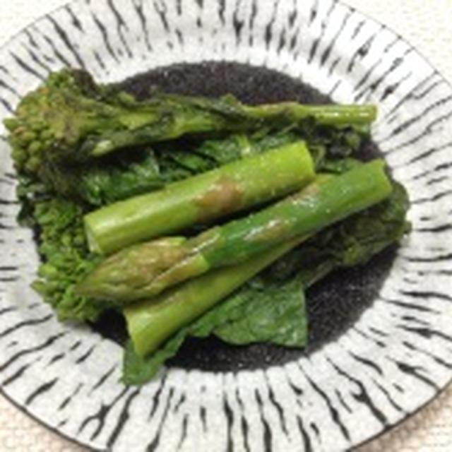 菜の花とアスパラガスのソテー(レシピ)