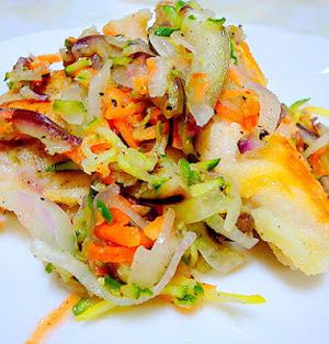 鶏肉と野菜のマリネ