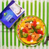 低糖質レシピ!春野菜のオープンオムレツ