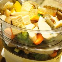 スチームクッカーで野菜を食べる!