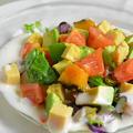 <ヨーグルトドレッシングで食べる生野菜&温野菜サイコロサラダ>