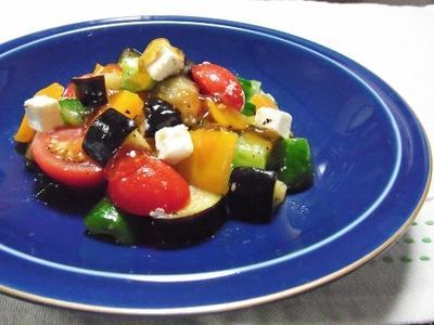 夏野菜のサラダ~ポン酢ジュレがけ~