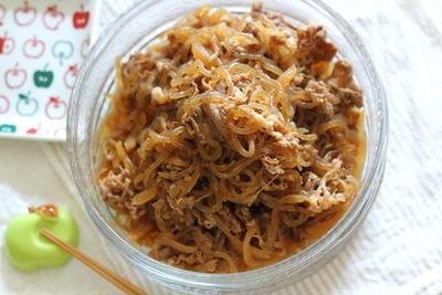 牛肉と糸こんにゃくの甘辛煮 ~あっさり&味染みが良くなる方法