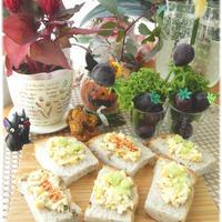 卵のオープンサンド☆花と料理で楽しむ♪ハッピーハロウィン