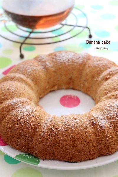 もったりしないバナナケーキ