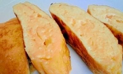 甘さはほんのり♪フライパンで超簡単!お砂糖無し、はちみつと塩糀入りだし巻き卵♪