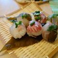 春爛漫♪鯛と桜の葉の手まり寿司