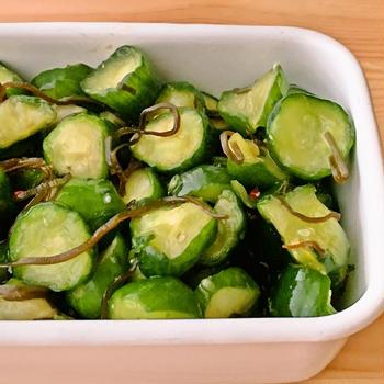 【野菜ひとつ】塩昆布できゅうりの浅漬け
