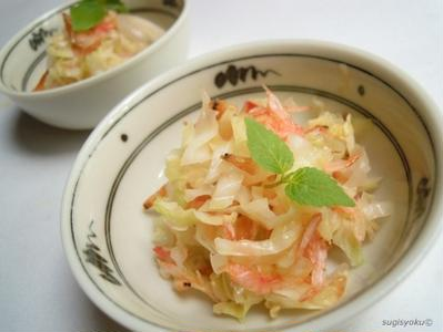 レシピ キャベツと桜エビの酢炒め
