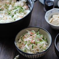 青紫蘇と茗荷と生姜たっぷり!梅だし炊き込みご飯