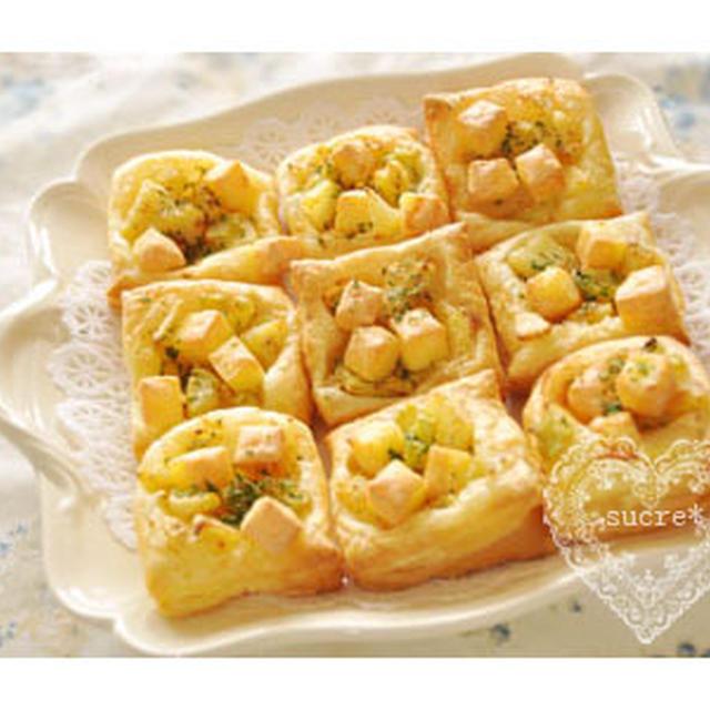 * めんたいポテトのチーズのせパイ。 *