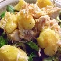 サラダクラブ玉ねぎドレッシングで鶏とじゃがいものサラダ(レシピブログ)
