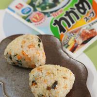 簡単☆鮭わかめごはん【理研ビタミンわかめスープ】 ( レシピ )