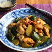 鶏肉ときゅうりのピーナッツ炒め