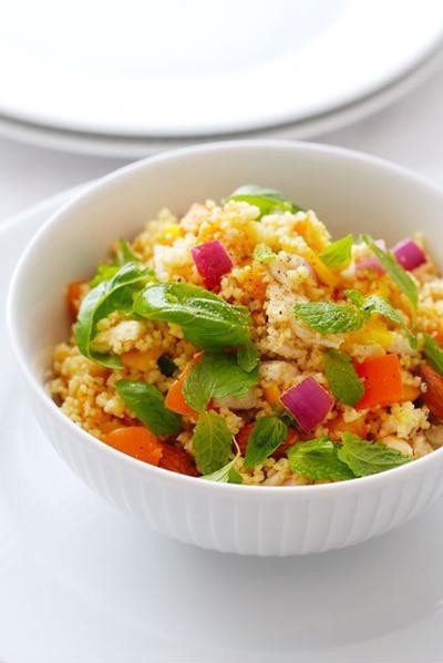 鶏肉と夏野菜のタブレ、ミント仕立てTABOULE AUX POULET,LEGUMES D'ETE AU MENTH