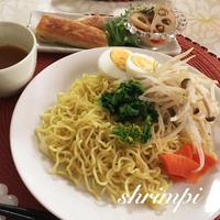 坦々つけ麺♡菜の花トッピング^_^