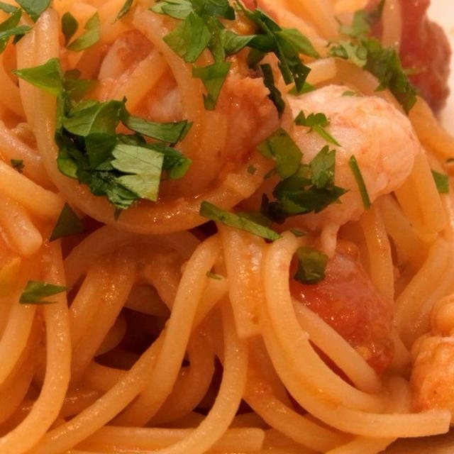 パスタ料理のレシピ~プチトマトと小エビのさっぱりパスタ~