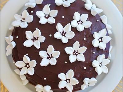 >マシュマロ☆ チョコレートフラワーケーキ by hannoahさん
