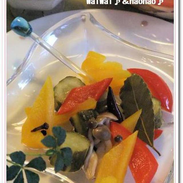新生姜&三色お野菜でシンプルピクルス♪♪  とほほな話・・・