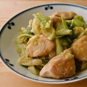 上海風 キャベツと鶏むね肉の蒸し煮