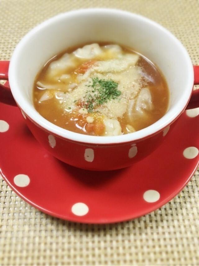 1.餃子のトマトスープ