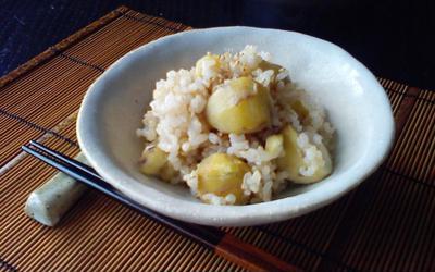 マクロビ 土鍋で玄米栗ご飯