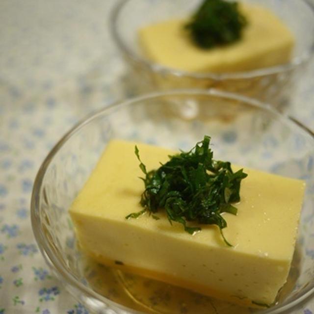 手作り卵豆腐
