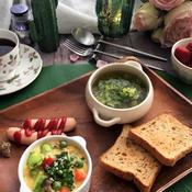 野菜たっぷりフランとキャベツスープ