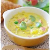 お野菜たっぷり かぼちゃのクリームスープ