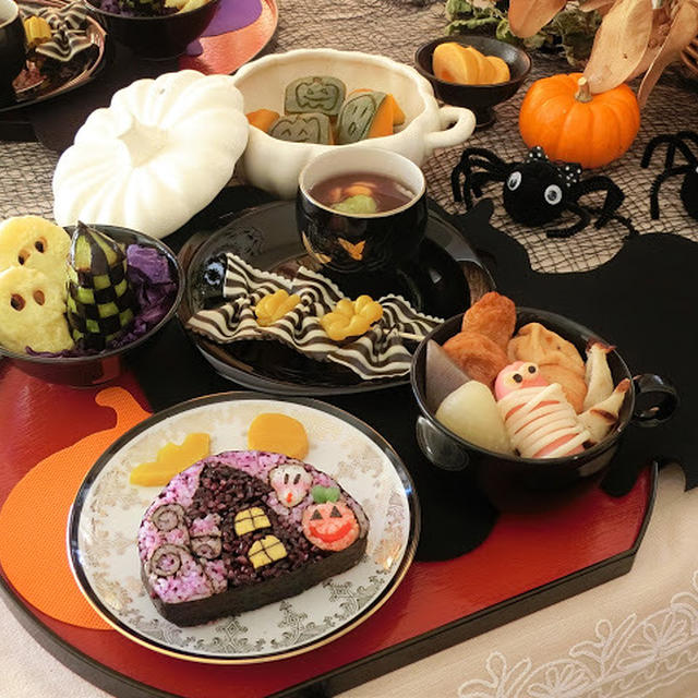 和食でハロウィン★新作飾り巻き寿司