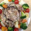クリスマスっぽい料理をダッチオーブンで 「ハーブチキン」